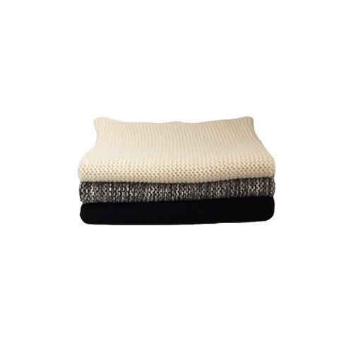 Knitted Cotton Dish Cloth (Cream Grey Black Mix)