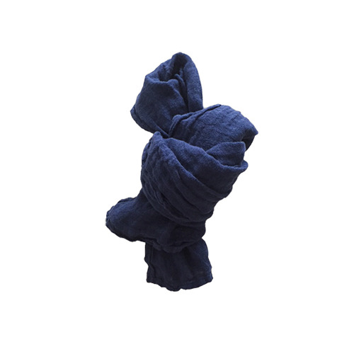 French Linen Scarf for Kids (MIDNIGHT BLUE)