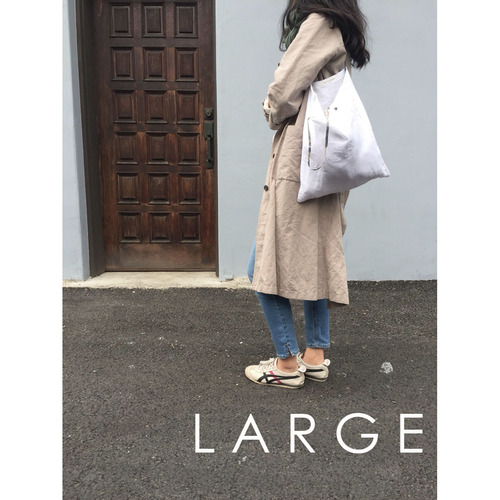 [재입고] SIMPLY WHITE LINEN BAG (LARGE)