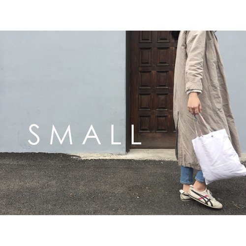 [재입고] SIMPLY WHITE LINEN BAG (SMALL)