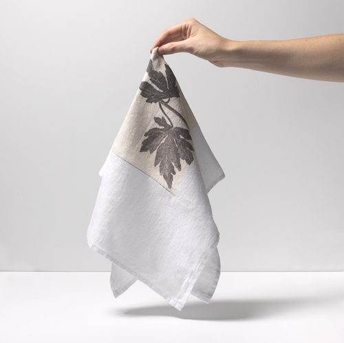 [재입고] French Linen Kitchen Cloth (Leaves)