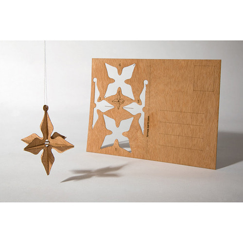 Wooden Postcard (Star)