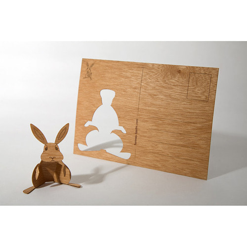 Wooden Postcard (Rabbit)