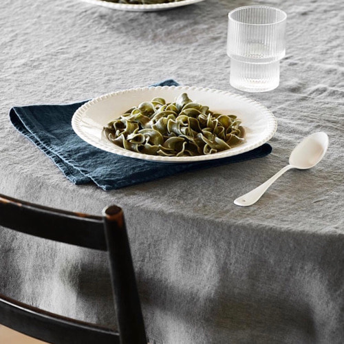 French Linen Kitchen Cloth (Duck Blue, Simple)