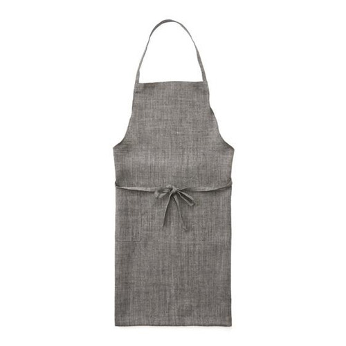 Fog Linen Daily Apron (Darkbrown Herringbone)