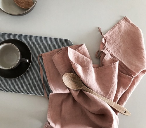 French Linen Kitchen Cloth (Mocha)