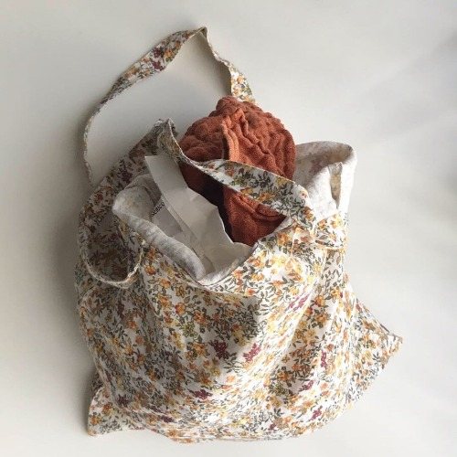 Linge Particulier Linen Shoulder Bag (Flower)