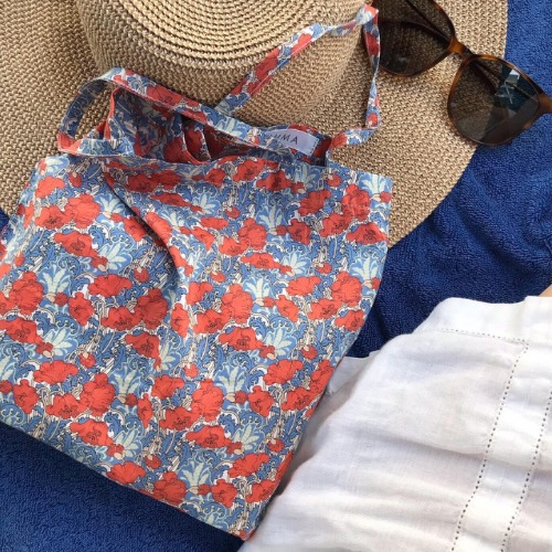 Liberty Cotton Flat Bag (Red+Blue)