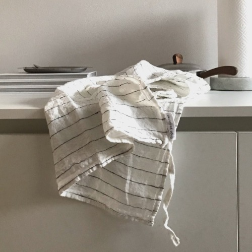 French Linen Kitchen Cloth (Tennis Stripe)