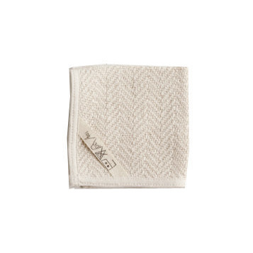 Fog Linen Herringbone Cotton Hand Towel (S)