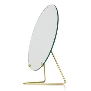 Standing Mirror with Brass Frame (20 cm)