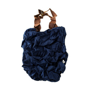 Crumpled Eco Bag (Navy)
