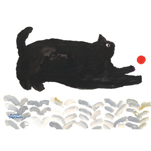 Fine Little Day Playing Cat Poster (50x70)