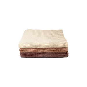 Knitted Cotton Dish Cloth (Cream Mauve Mix)