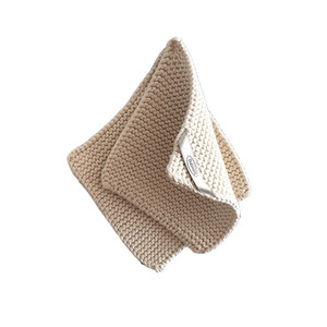 Knitted Cotton Potholders Set (Ivory)
