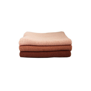 Knitted Cotton Dish Cloth (Coral Pink Mix)