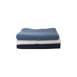 Knitted Cotton Dish Cloth (Blue White Mix)