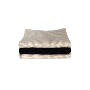 Knitted Cotton Dish Cloth (Cream Black Mix)
