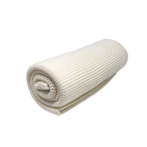 Knitted Cotton Tea Towel (Ivory)