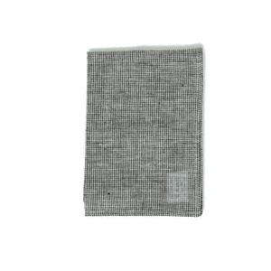 Linen Kitchen Cloth (Black Houndstooth)