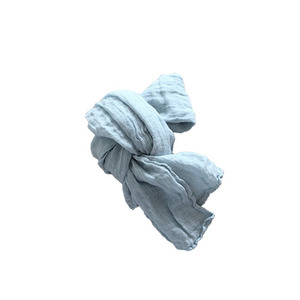 French Linen Scarf for Kids (PALE BLUE)