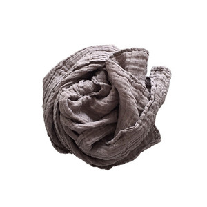 French Linen Scarf (DARK BEIGE)
