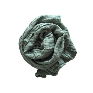French Linen Scarf (JADE)