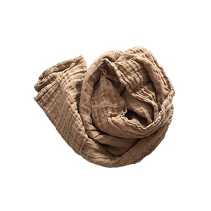 French Linen Scarf (CURRY)