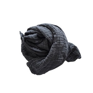 재입고 French Linen Scarf (Heavy Line/ STORM GREY)