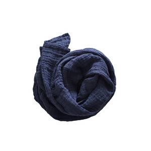 French Linen Scarf (MIDNIGHT BLUE)