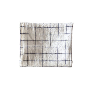 [재입고] French Linen Kitchen Cloth (White + Navy Checks)