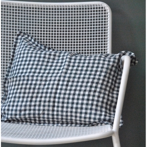 French Linen Gingham Cushion (Gingham)