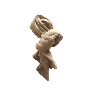 French Linen Scarf for Kids (CAMEL)