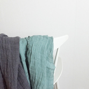 French Linen Scarf (Simple Line/ SAGE)