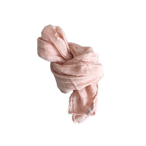 [재입고] French Linen Scarf for Kids (NUDE PINK)