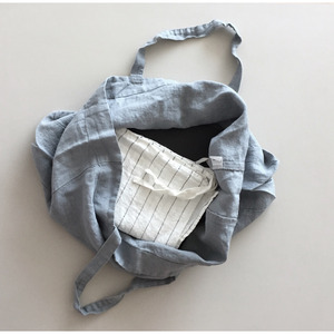 French Linen Tote Bag (BLUE GREY)