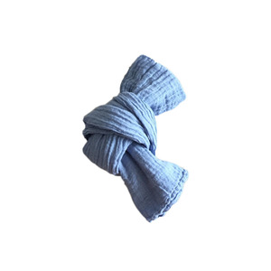 French Linen Scarf for Kids (ICE BLUE)