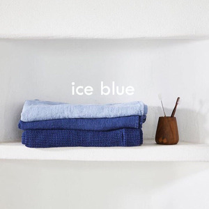 French Waffle Linen Kitchen Cloth (Ice Blue)