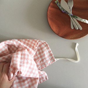 French Linen Kitchen Cloth (Copper Gingham)