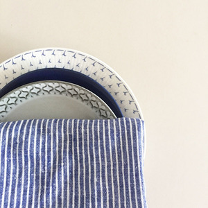 French Linen Kitchen Cloth (Shirts Stripe)