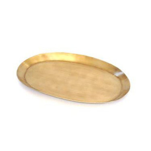 [SCRATCH] Fog Linen Brass Tray (Oval M)