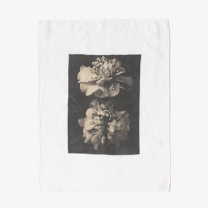 French Linen Kitchen Cloth (Flower)