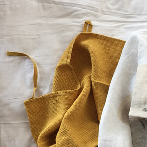 French Linen Kitchen Cloth (Honey, Waffle)