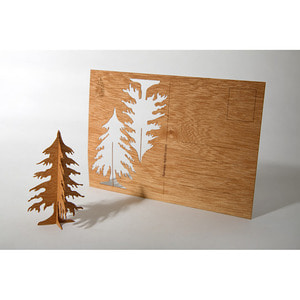 Wooden Postcard (Tree)