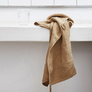 French Linen Kitchen Cloth (Curry, Waffle)