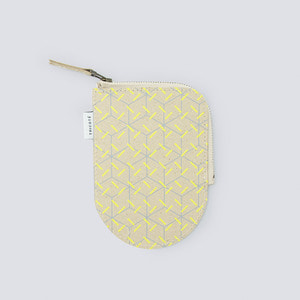 TRICOTÉ Recycled Leather Mini Pouch (LEMON)