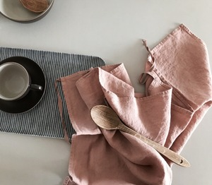 French Linen Kitchen Cloth (Mocha) (와플 타입 추가)