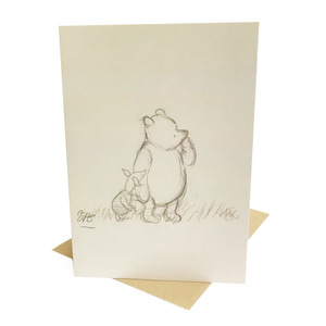 V&A Pooh&Piglet Greeting Card