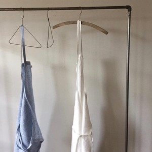 Fog Linen Full Apron (Light Blue Gingham)
