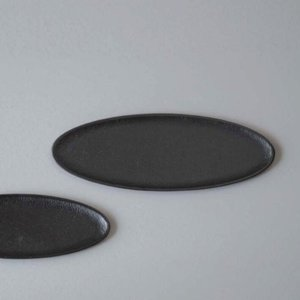 Aluminum Oval Tray (Black)